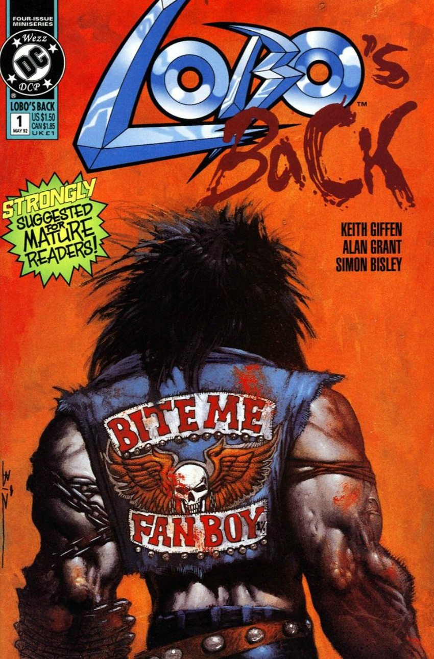 Cover Artwork Of Lobo's Back: Volume 1 - The Final Fragdown, Published By Dc Comics On May 1St, 1992