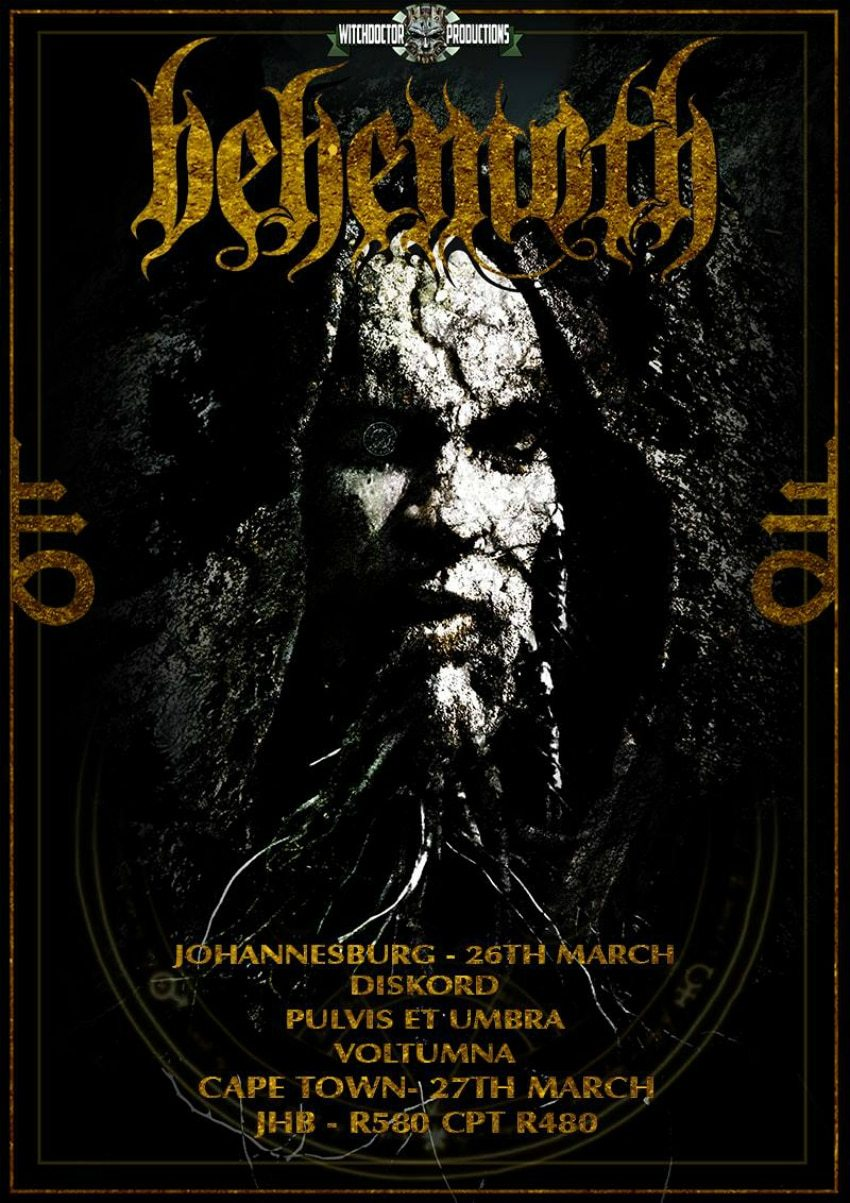 Behemoth South African 2016 Tour