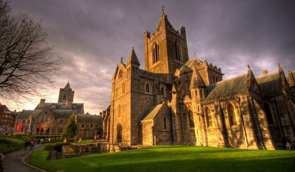 Christ Church Cathedral, located in the oldest part of Dublin, Ireland