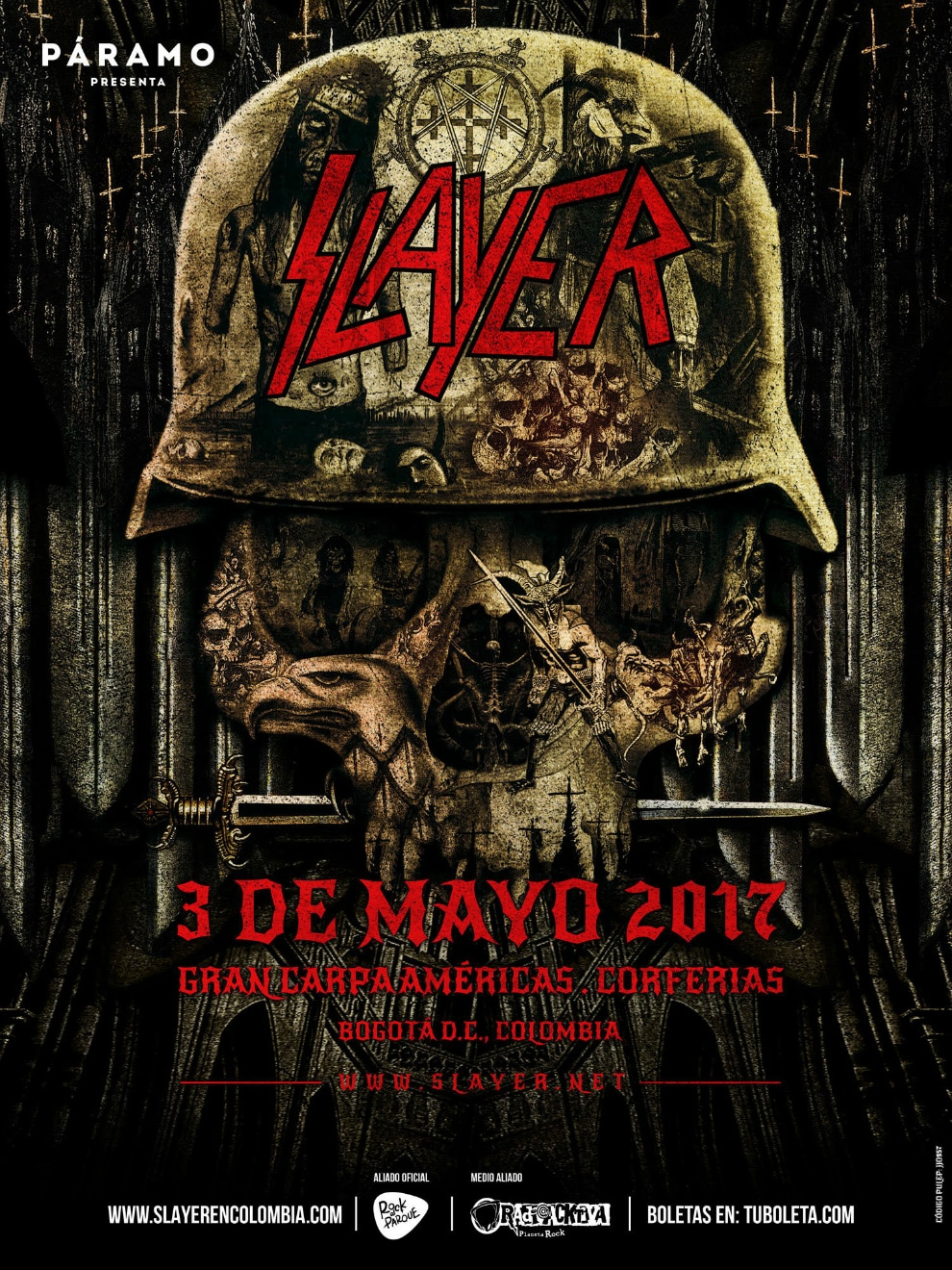 Slayer en Colombia 2017