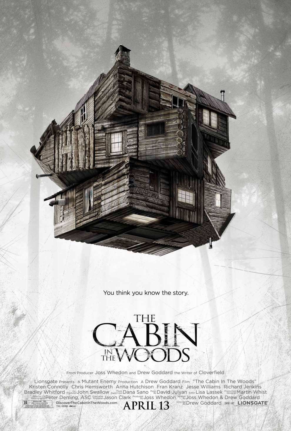 official the cabin in the woods poster