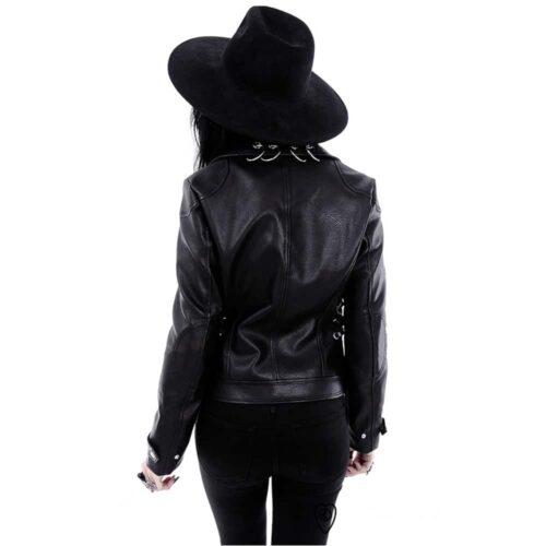 pierced leather back