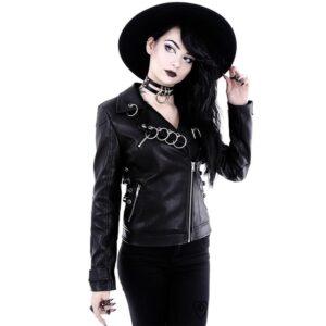 Pierced Leather Jacket