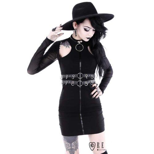 Ring Collar Pencil Dress
