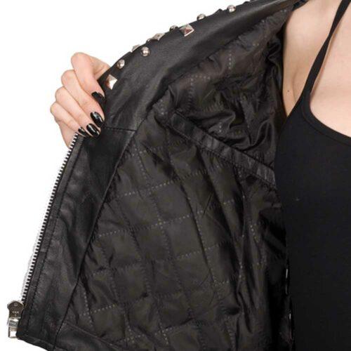 rockstar ladies biker jacket open