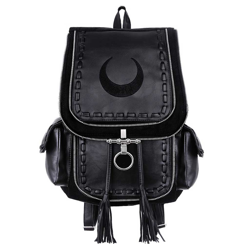 Crescent Black Moon Backpack