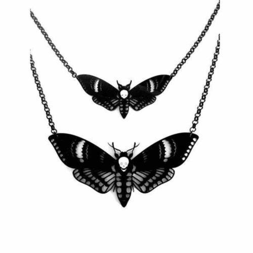 Curiology Double Deaths Head Moth Necklace