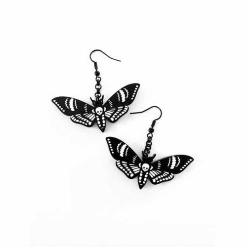 Deaths Head Moth Earrings