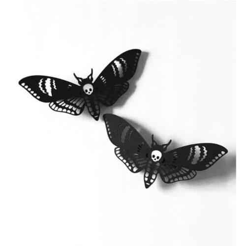 Deaths Head Moth Hairclips