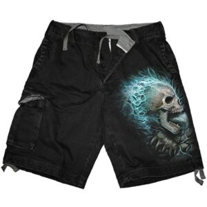 Flaming Spine Cargo Shorts