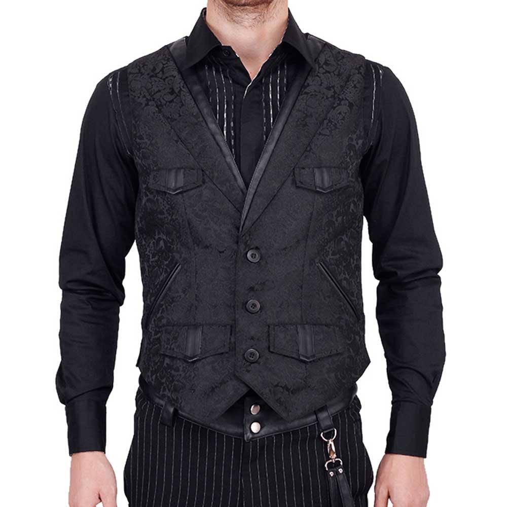 Gothic Gilet Brokaat Waistcoat