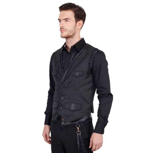 gothic gilet brokaat waistcoat right