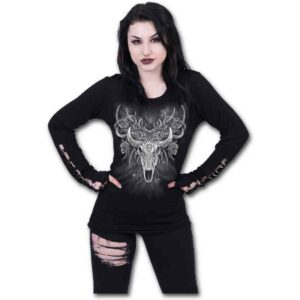 Horned Spirit Buckle Cuff Long Sleeve