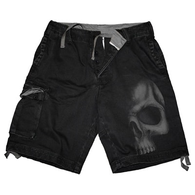 Shadow Skull Cargo Shorts