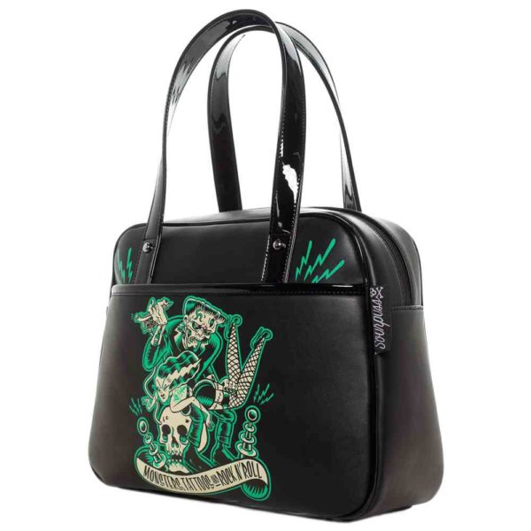 Monster Tattoo Bowler Purse