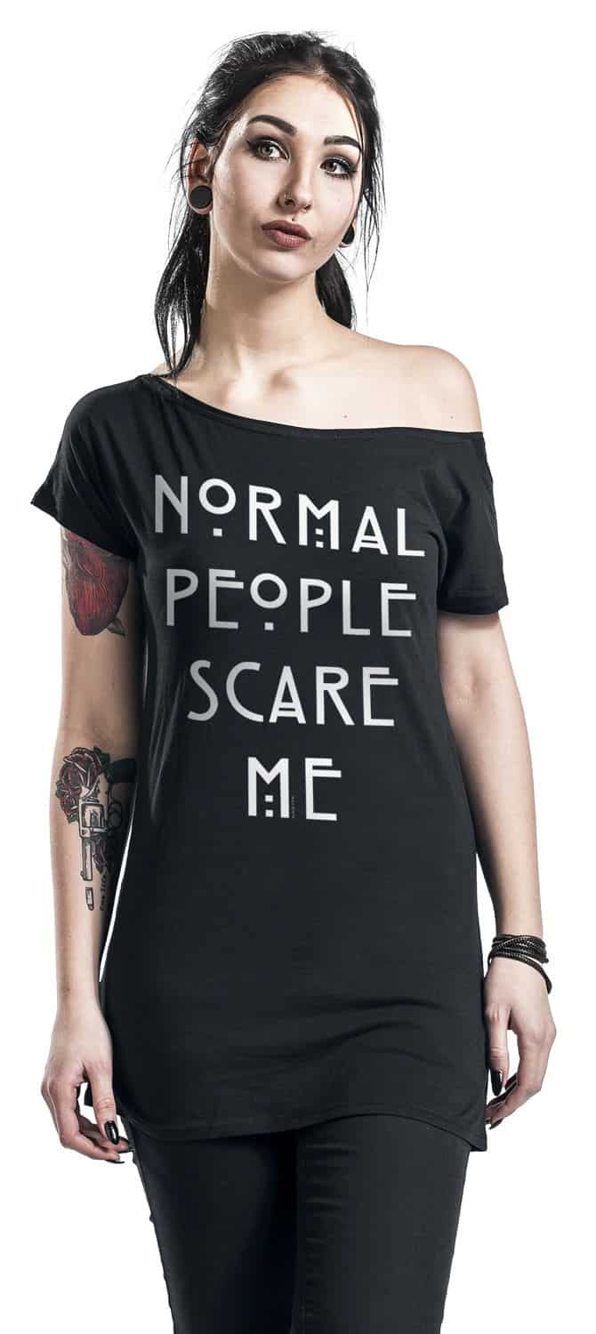 normal people scare me shirt model