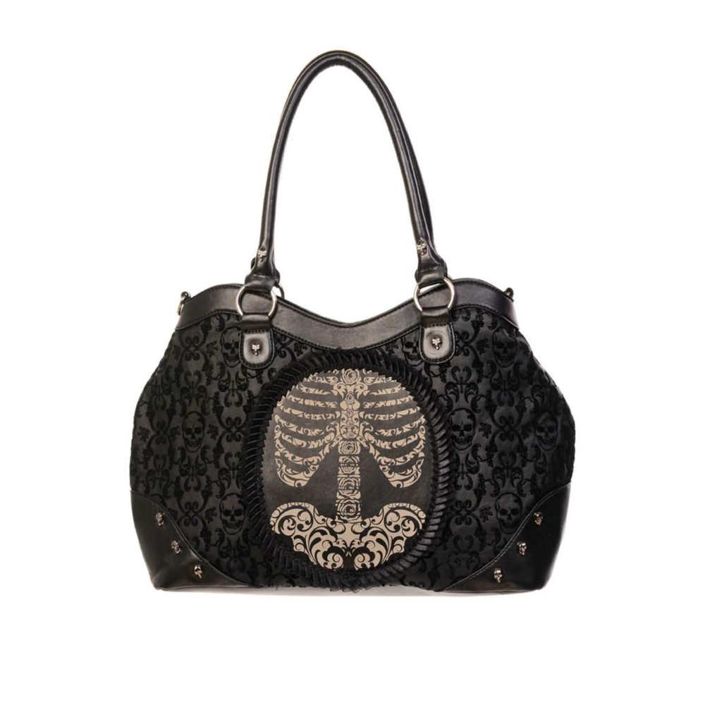 Ribbed Skeleton Handbag
