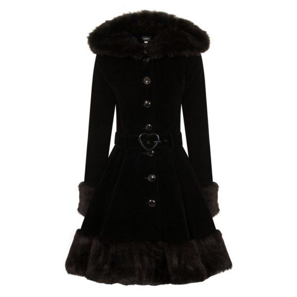 Laila Velvet Hooded Coat