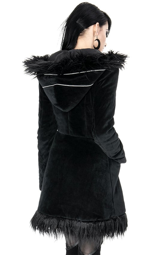blak pixie coat open back