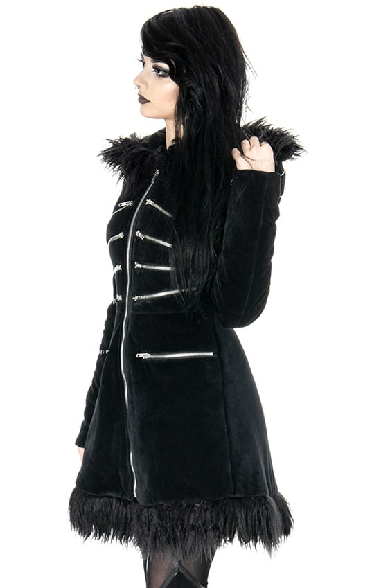 blak pixie coat open right