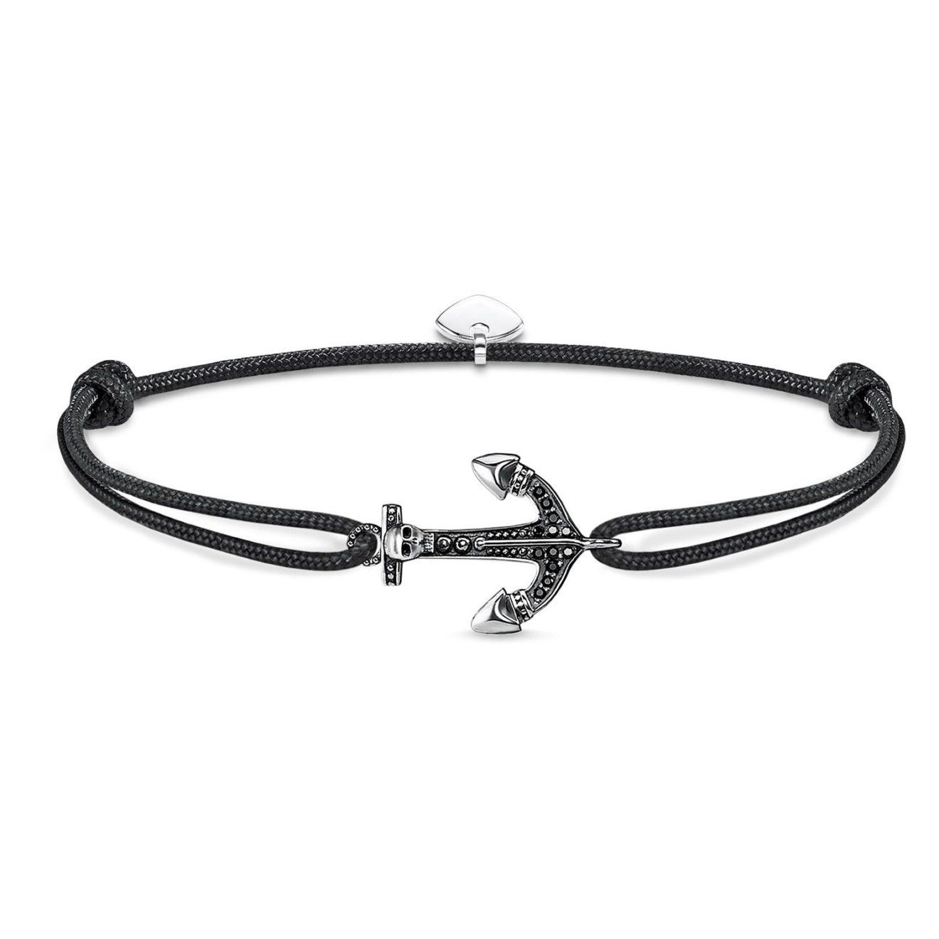Little Secrets Black Anchor Bracelet