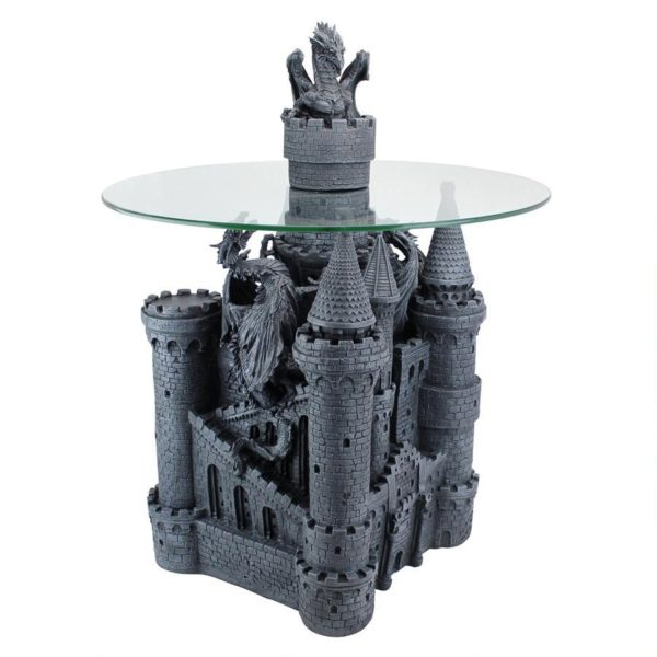 Lord Langton's Castle Glass-Topped Sculptural Table