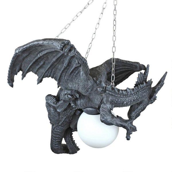 Night's Fury Sculptural Hanging Dragon Lamp