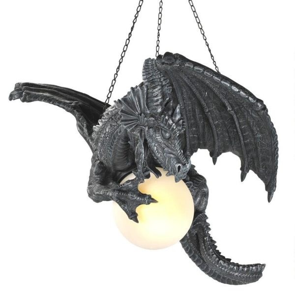 Night's Fury Sculptural Hanging Dragon Lamp