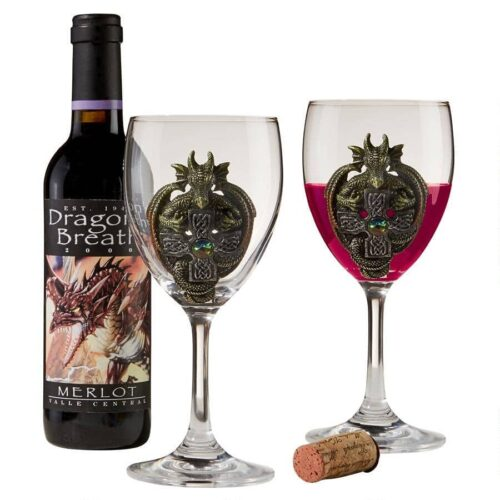 The Order Of The Celtic Dragon Glass Goblets