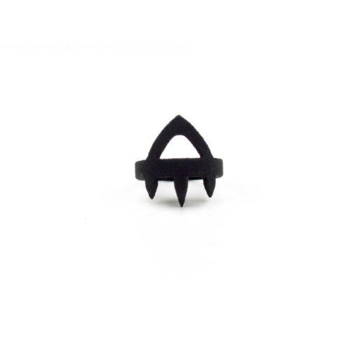 Priestess Midi Ring in Black