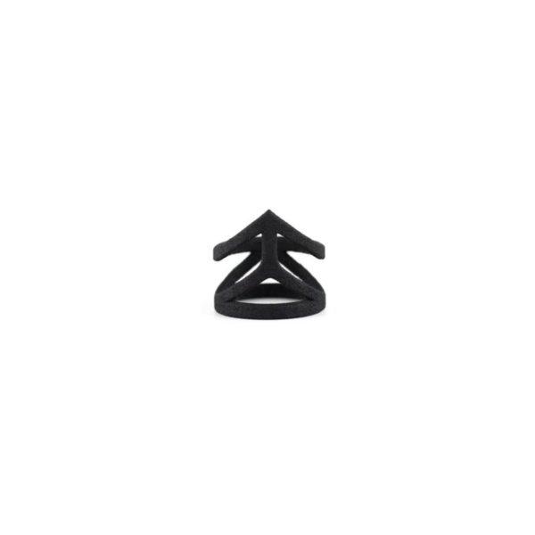 Affection Midi Ring in Black