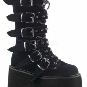 Damned 225 Velvet Gothic Platform Boot