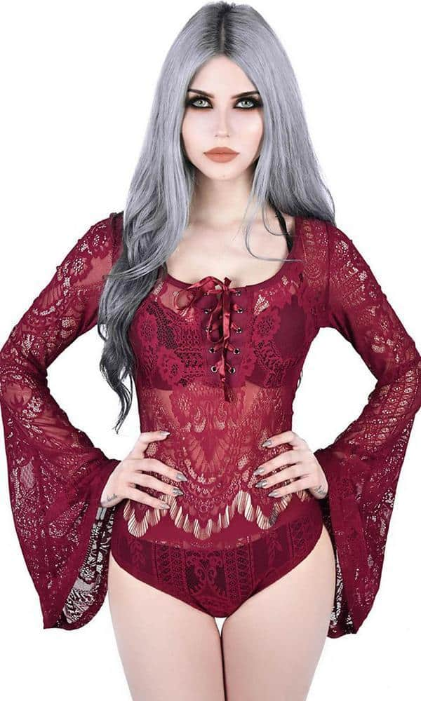 Deadly Beloved Wine Bodysuit
