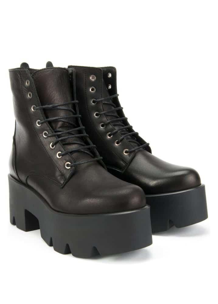 Janet Leather Platform Boots