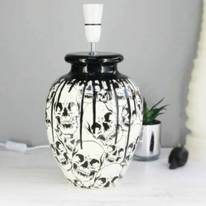 Large Skull Drip Table Lamp