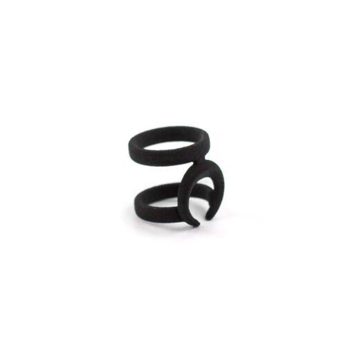 occult midi ring in black upsided