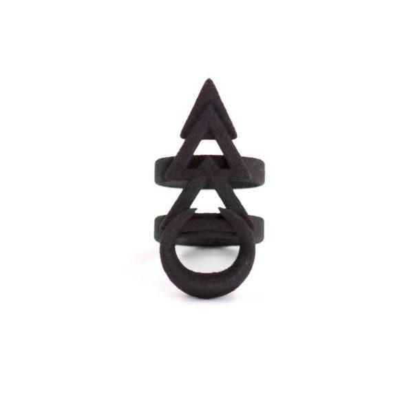 Rune Ring in Black