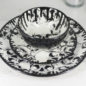 Skull Drip Coupe Dinner Set