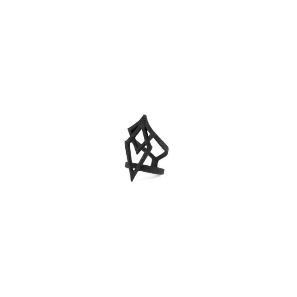 SpiderSilk Midi Ring in Black