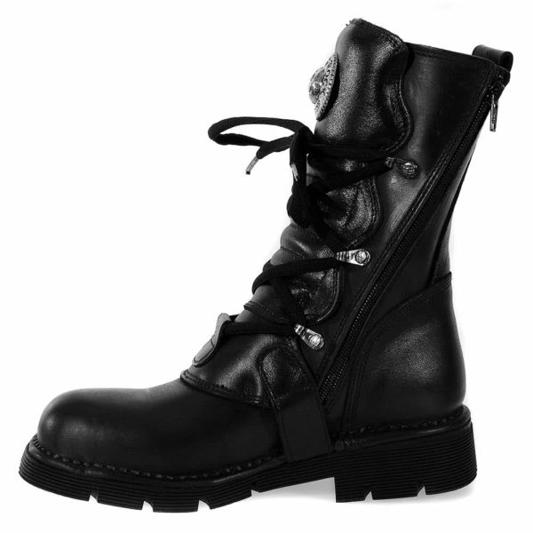 Black Comfort Light Calf Boots Right