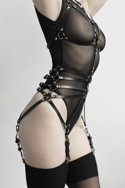 Body Leather Harness Lingerie