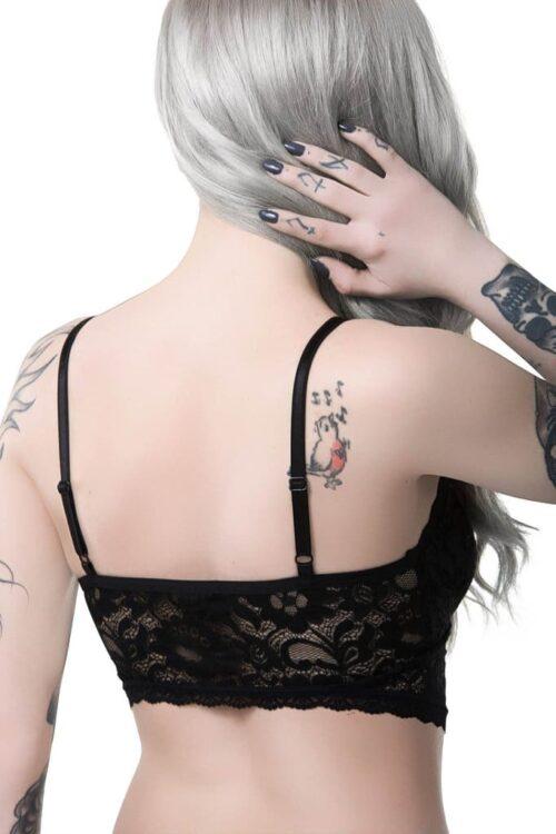 noctra lace delic bralet back detail
