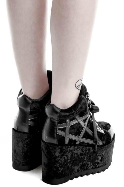 malice platform trainer shoes pair back