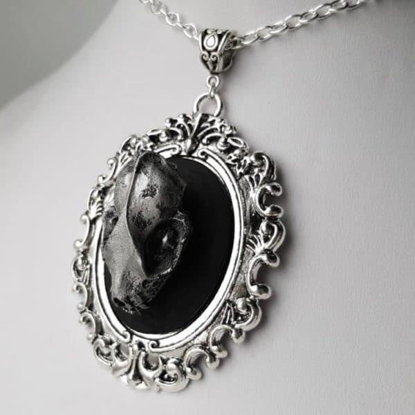 Bat Skull Pendant Necklace
