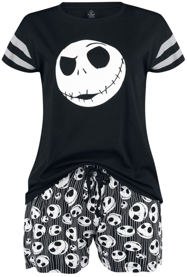 jack skulls pyjama front shorts