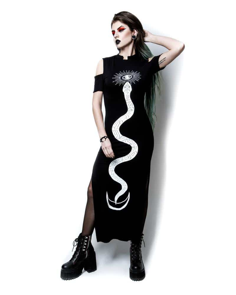 Serpent Oracle Long Dress