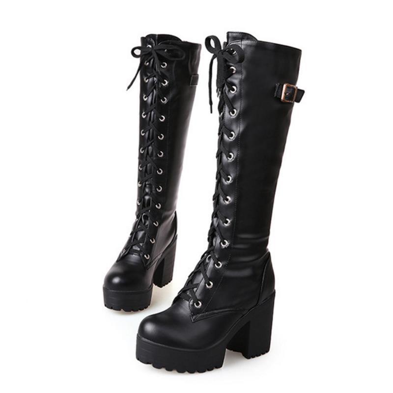 Knee-High Chunky Boots