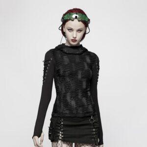 RESTYLE HAUNTED gothic OUIJA CHOKER alternative T-SHIRT tee BLACK TOP