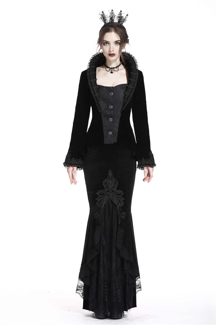 Dark Victorian Mermaid Long-tail Skirt