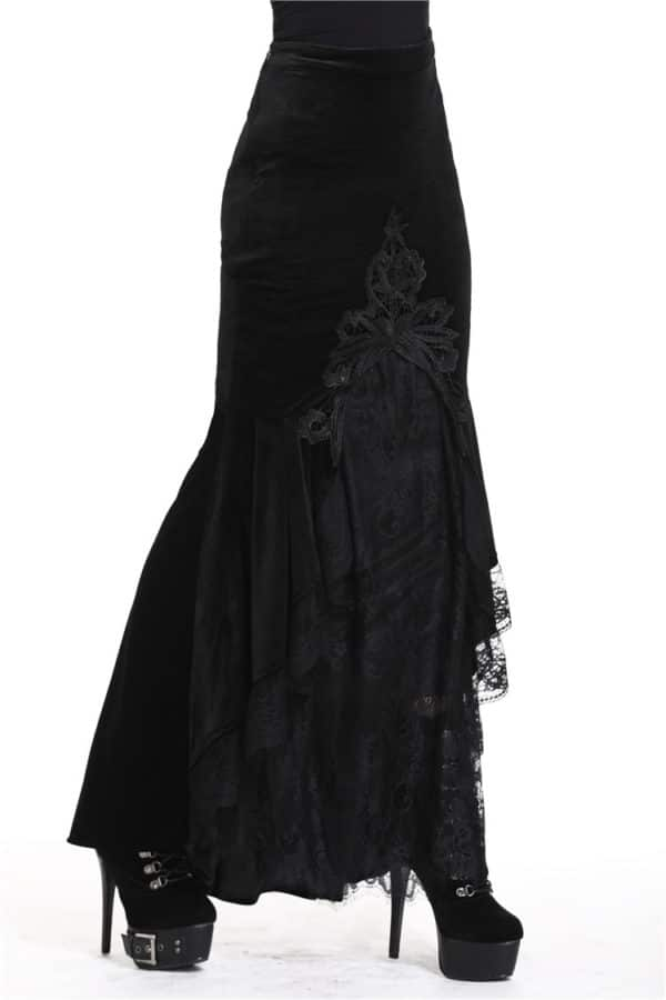 Dark Victorian Mermaid Long-tail Skirt